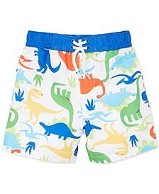 Baby Boys Dinosaur-Print Swim Trunks