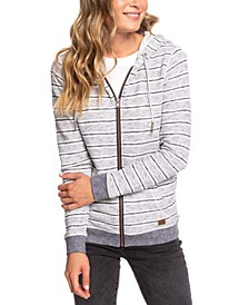 Juniors' Trippin Stripes Fleece Hoodie