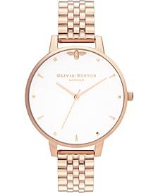Women's Queen Bee Rose Gold-Tone Stainless Steel Bracelet Watch 38mm