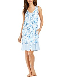 Floral-Print Nightgown