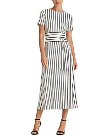 Petite Striped Jersey Dress