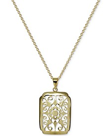"Filigree 18"" Pendant Necklace in 18k Gold-Plated Sterling Silver, Created For Macy's"