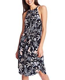 Floral-Print Tie-Front Dress