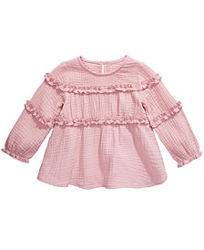 Baby Girls Cotton Ruffled Top, Created for Macy's
