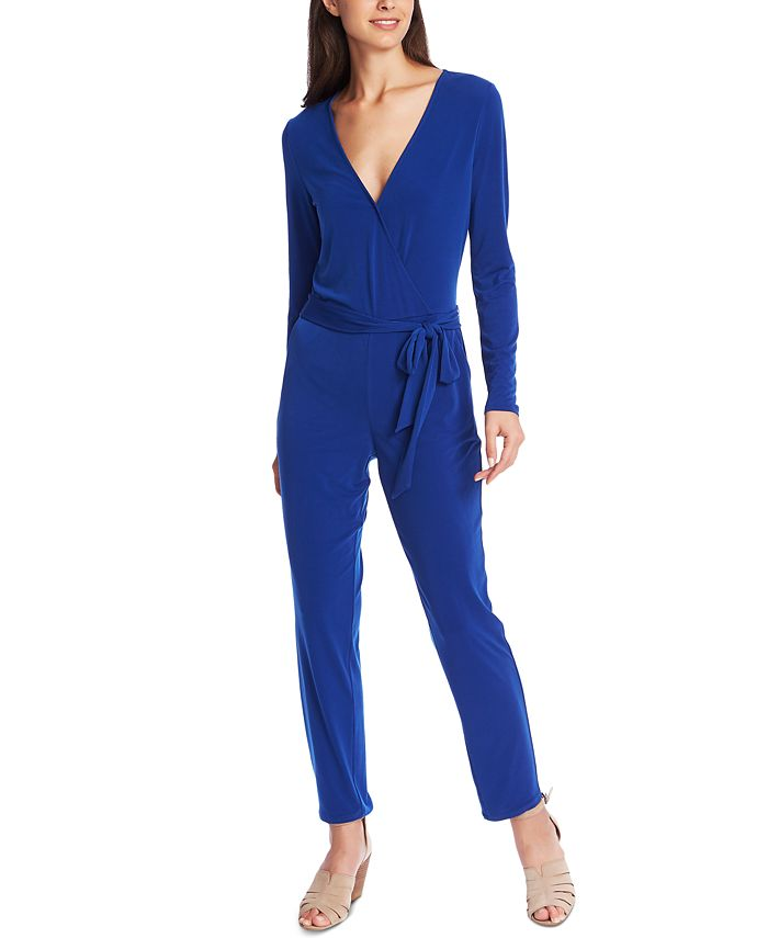 1.STATE - Belted Surplice-Neck Jumpsuit
