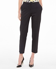 Petite Elastic-Back Dress Pants
