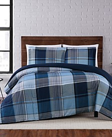 Trey Plaid Full/Queen Comforter Set
