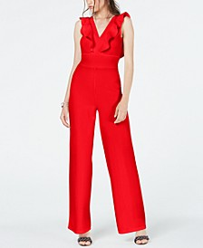 Juniors' Ruffled Jumpsuit