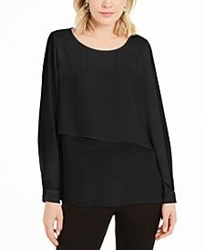 Asymmetrical-Overlay Blouse, Created for Macy's