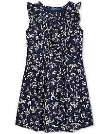 Toddler Girls Floral Cotton Dobby Dress