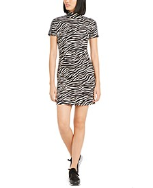 Zebra-Print Tape-Trim Dress