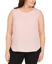 Plus Size Sleeveless Crewneck Top