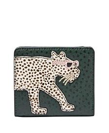 Logan Small Leather Cheetah Wallet