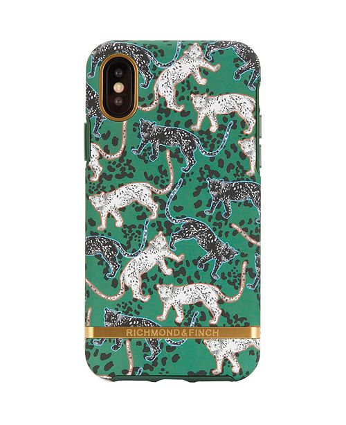 Richmond&Finch Green Leopard Case for iPhone XS MAX