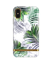 White Marble Tropics Case for iPhone X and Xs