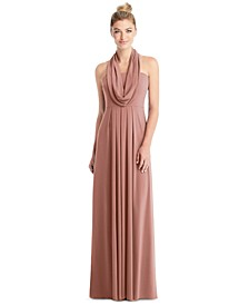 Full-Length Loop Convertible Dress & Removable Shrug
