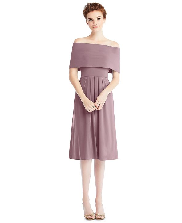 The Dessy Group Midi Loop Convertible Dress & Removable Shrug