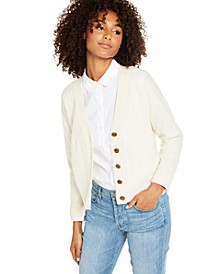 Cashmere Mix-Stitch Cardigan, Created for Macy's