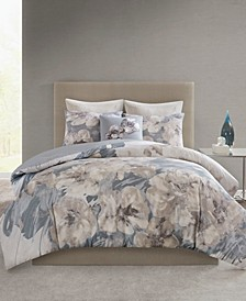 Casa Nouveau Full/Queen 3 Piece Metallic Print Cotton Comforter Set
