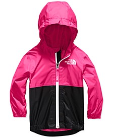 Baby Girls Zipline Hooded Rain Jacket