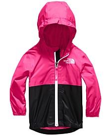 Baby Girls Zipline Hooded Rain Jacket