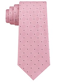 Men's Classic Checkered Grid Silk Tie
