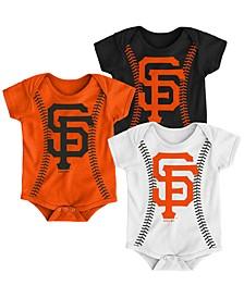 Baby San Francisco Giants Running Home 3 Piece Bodysuit Set