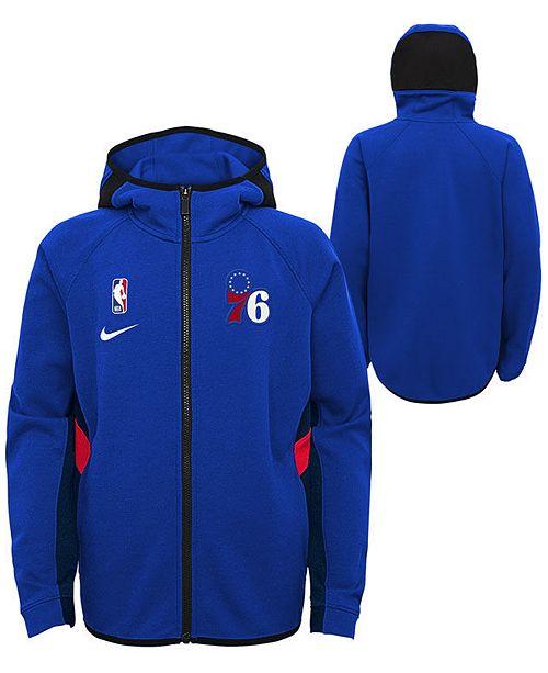 Nike Big Boys Philadelphia 76ers Showtime Hooded Jacket