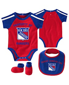 Baby New York Rangers Hard @ Play Bib & Bootie Set