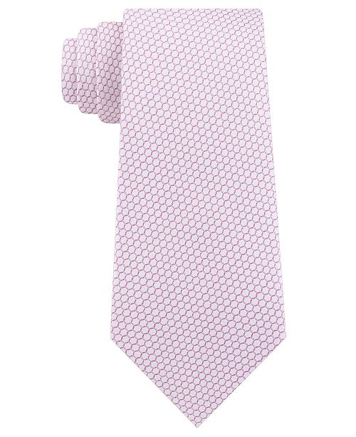Calvin Klein Men's Micro Hexagons Slim Tie
