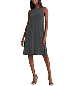 Snap-Trim Jersey Shift Dress