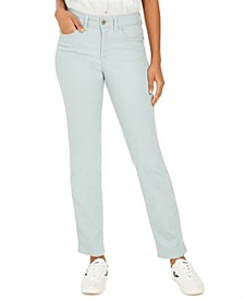 Petite Rail Tummy-Control Straight-Leg Jeans, Created for Macy's