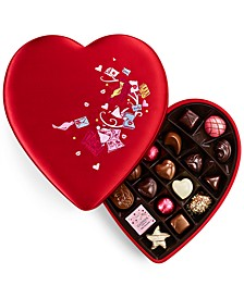 Chocolatier, Fabric Heart Chocolate Gift Box, 25 pc.