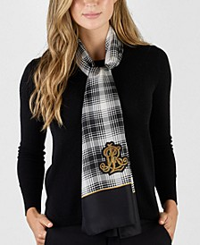 Fiona Plaid Silk Oblong Scarf