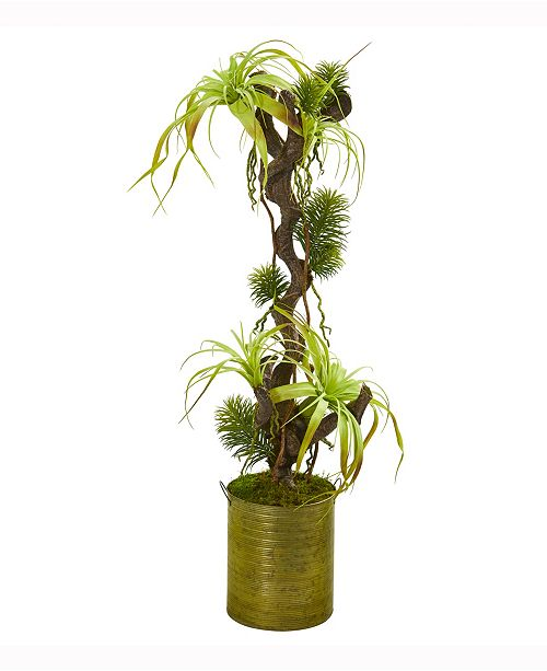 Nearly Natural 45in. Tillandsia Artificial Plant in Green Planter