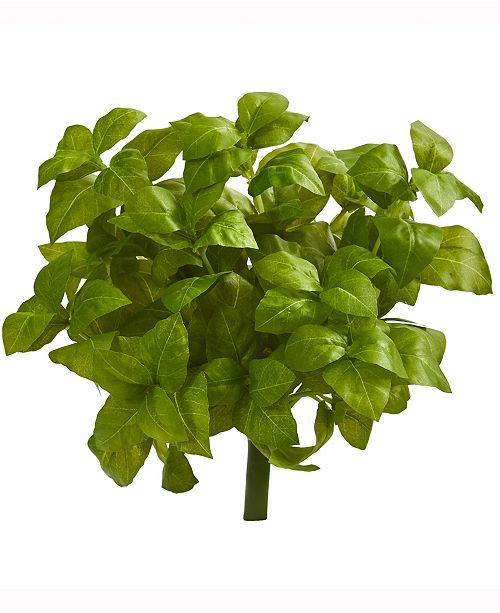 Nearly Natural 11in. Basil Artificial Plant Set of 6
