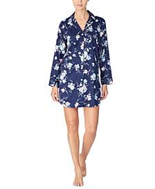 Women's Floral-Print Sleep Shirt