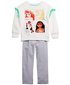 Little Girls 2-Pc. Princesses Sweatshirt & Leggings Set