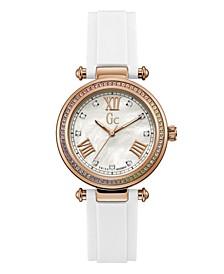 Gc Women's Prime Chic White Silicone Strap Watch 36mm