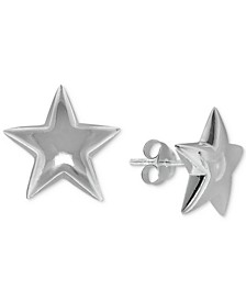 Star Stud Earrings in Sterling Silver, Created For Macy's