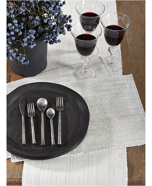 Saro Lifestyle Shimmering Woven Cotton Table Runner