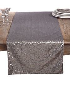 Shimmering Sequin Evening Dinner Party Event Table Runner