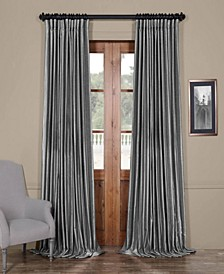 Extra Wide Faux Silk Blackout Curtain Panel Collection