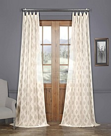 Calais Tile Patterned Sheer Curtain Panel