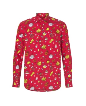 Think of Christmas, and your thoughts probably look like this red Christmas shirt. From gingerbread men to Santa, everything\\\'s on there. So, if you want to spread the Christmas spirit with your outfit, we advise wearing this Christmas shirt during the holiday season.