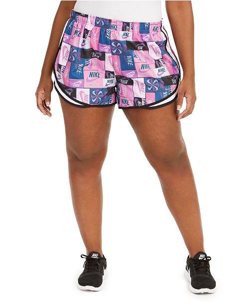 Nike Plus Size Icon Clash Printed Tempo Shorts