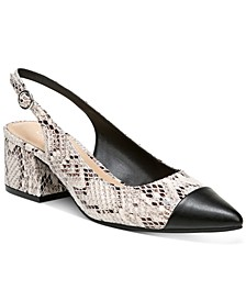 Tenley Slingback Block-Heel Pumps, Created for Macy's