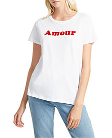French Connection Cotton Amour Graphic T-Shirt