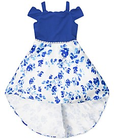 Toddler Girls Off-The-Shoulder High-Low Dress