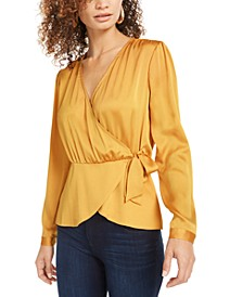 Faux-Wrap Tie-Waist Top, Created for Macy's